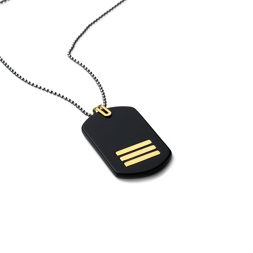 Commander Gold Tag Necklace